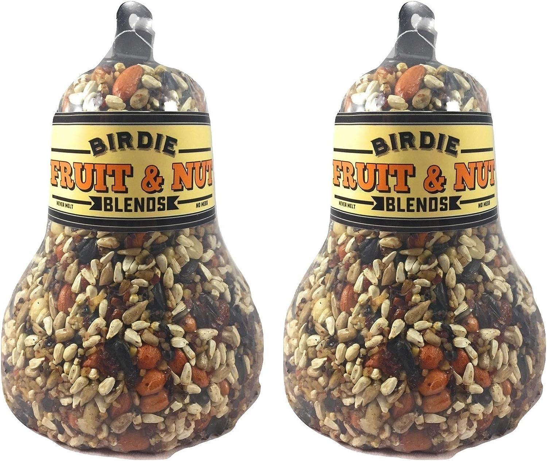Birdie Blends Fruit & Nut Bird Seed Bell for Wild Birds (2)