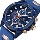 Men Business Watches Chronograph MINI FOCUS Fashion Waterproof Quartz Wrist Watch for Family Gift