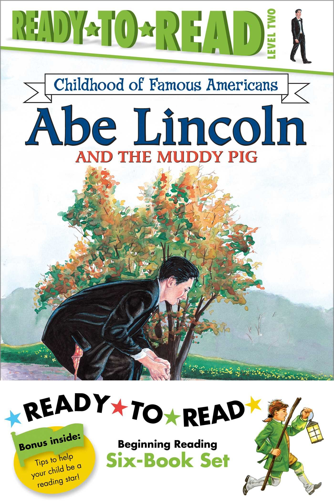 Childhood of Famous Americans Ready-to-Read Value Pack: Abe Lincoln and the Muddy Pig; Albert Einstein; John Adams Speaks for Freedom; George and the Ghostriders (Ready-to-read COFA)