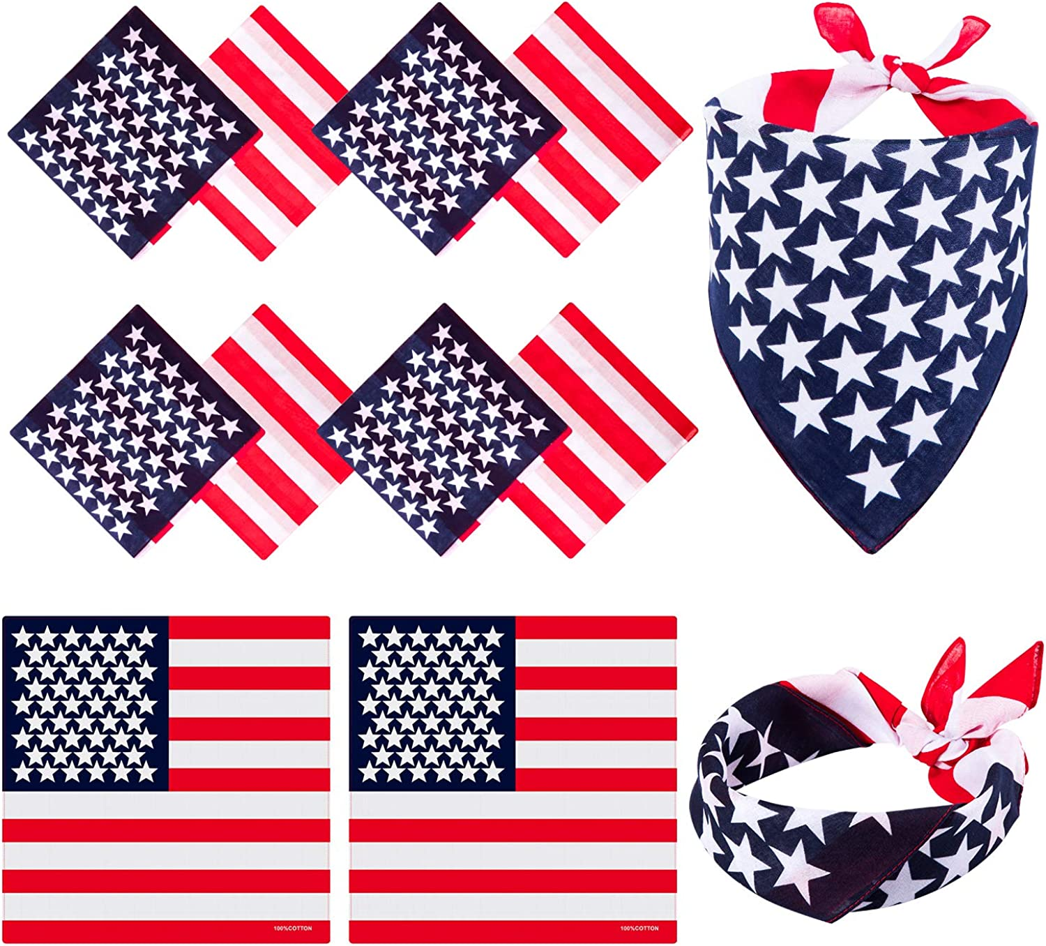 Flags//Bunting//Accessories Robelli Union Jack Party Supplies 3 x Bandanna, Multi
