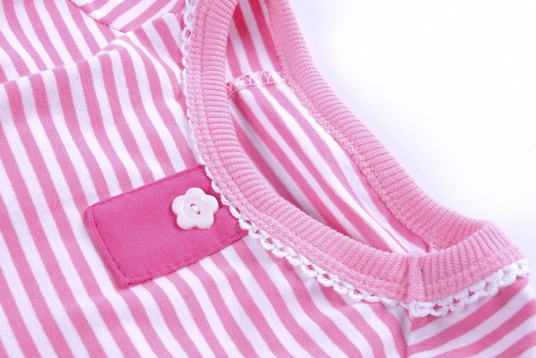 Woo Woo Pets Cute Animal Dog Cozy Pajams Dog Stripes Jumpsuit Pet Dog Clothes Pink XS by Woo Woo Pets (Image #3)