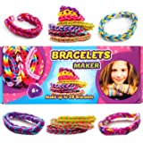 Bracelets Maker Set Craft Your Own Rubber Bands Loom Creator for Kids Colorful Loom Jewelry Bracelet Making Kit DIY Rubber Bands Loom Bracelets Kit Ring Necklace