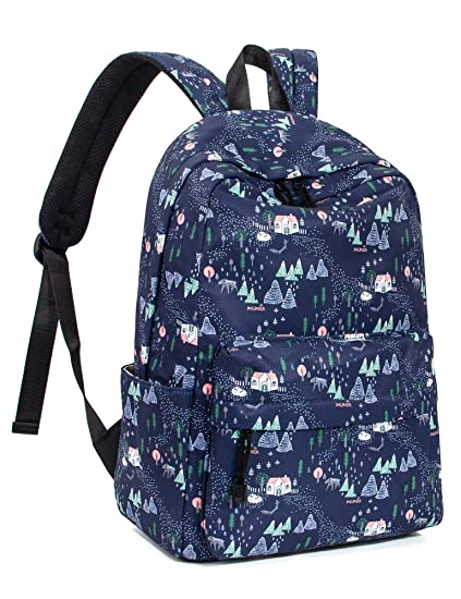 4a40592d7fe9 Amazon.com  Leaper Cute Forest School Backpack Bookbag 14 Inch Laptop  Backpack Dark Blue  LeaperDirect