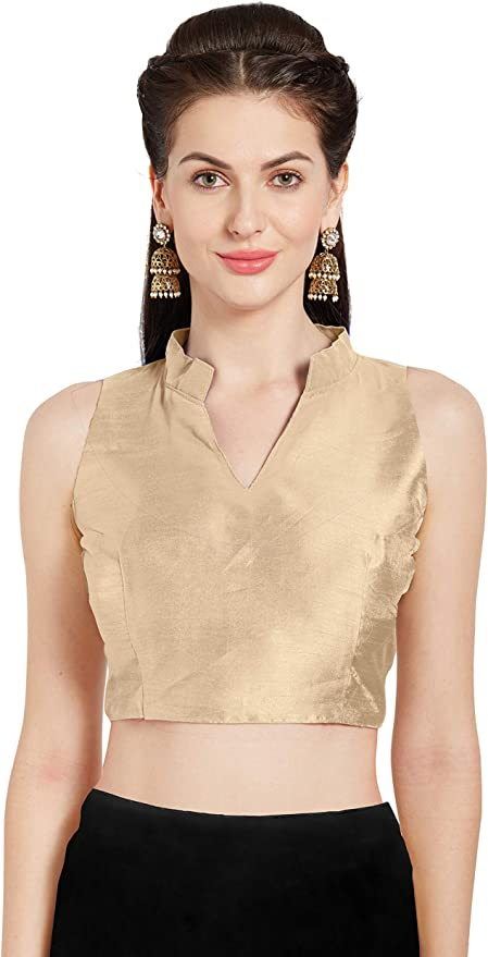 Free Shipping Red Ready made fashion blouse Foil Mirror Work Stitched Top Saree Wedding Art Silk Blouse Party wear for Women