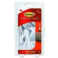 Command 17003-MPES Large Utility Hook Mega Pack, White, 14-Hooks, 16-Strips