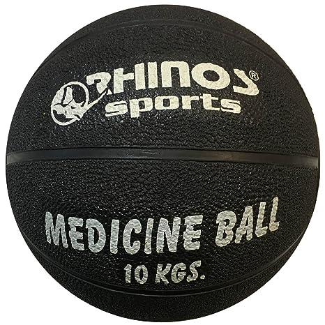 Rhinos Sports - Balón medicinal, pelota 10 kg, Negro: Amazon.es ...