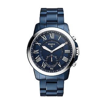Look Acier Homme – Smartwatch Hybride Boîte Bleu Au Fossil Classique Cadran Inoxydable Q Bracelet Connectée Marine En Grant Montre Et PZuwlkXTOi