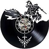 Decorative Vinyl Record Wall Clock Zelda Design