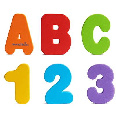 Munchkin Letters and Numbers Bath Toys, 36 Count : Bathtub Toys : Baby