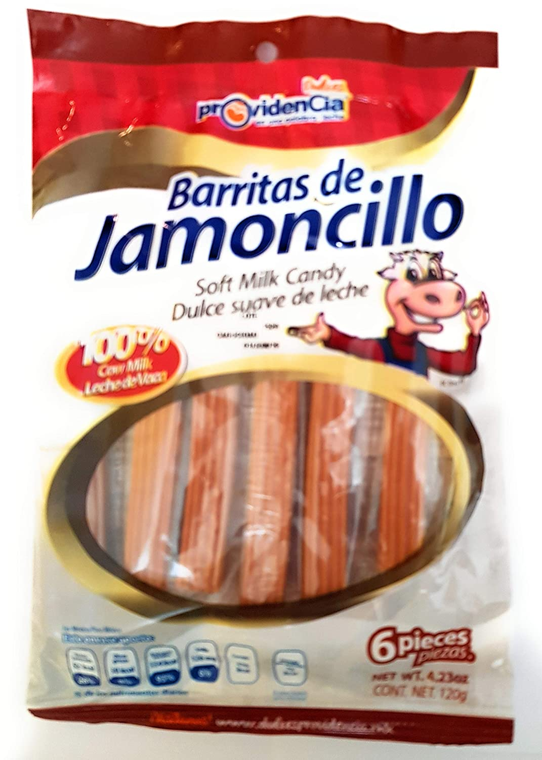 Amazon.com : Mexican Barritas de Jamoncillo (Milk Candy) 4.23oz (Pack of 3) and Resealable Bags : Grocery & Gourmet Food