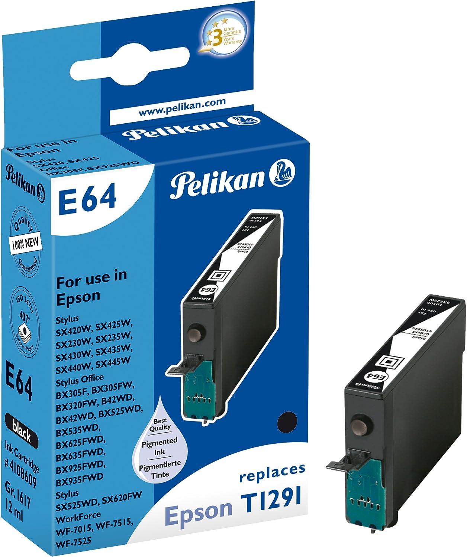Pelikan Druckerpatrone E64 Ersetzt Epson T12914011 Schwarz Pigment Bürobedarf Schreibwaren