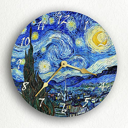 The Starry Night Van Gogh 12 Silent Wall Clock