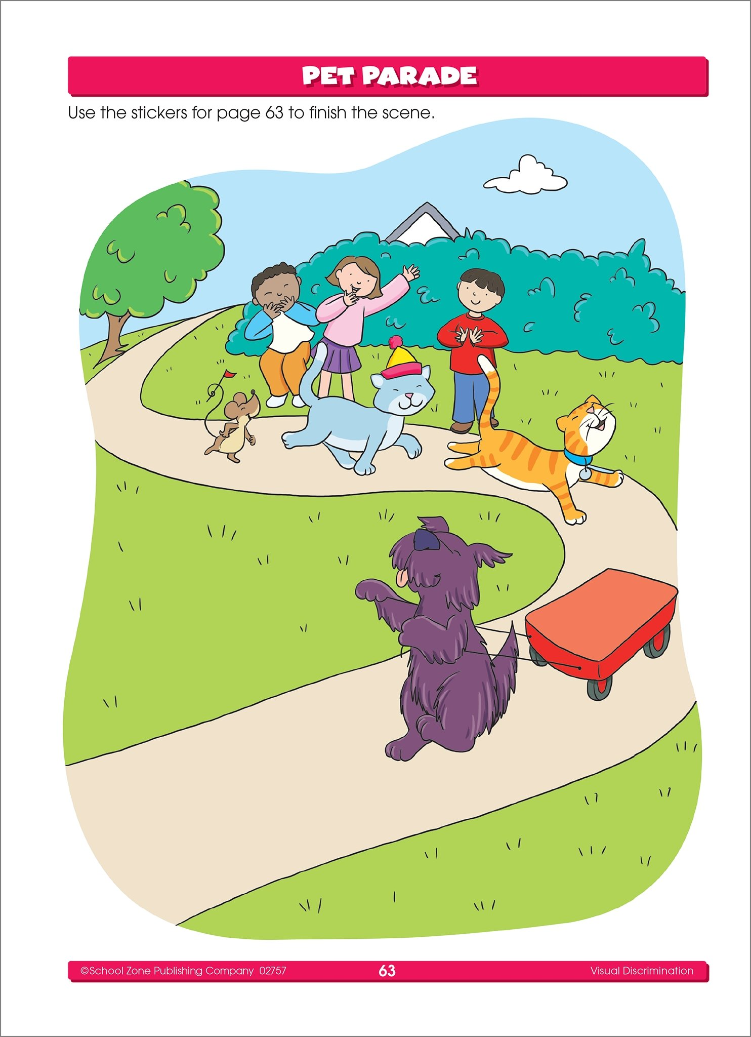 Amazon.com: School Zone - Preschool Stickers Workbook - Ages 3 to 6 ...
