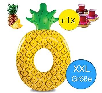 TK Gruppe Timo Klingler Pineapple XXL 180 cm Swim Ring Flotador Inflable Diseño para la Piscina