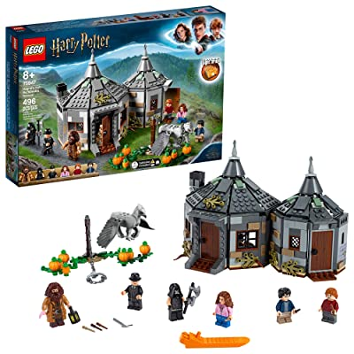 LEGO Harry Potter Hagrid's Hut: Buckbeak's Rescue 75947 Toy Hut Building Set from The Prisoner of Azkaban Features Buckbeak The Hippogriff Figure (496 Pieces): Toys & Games