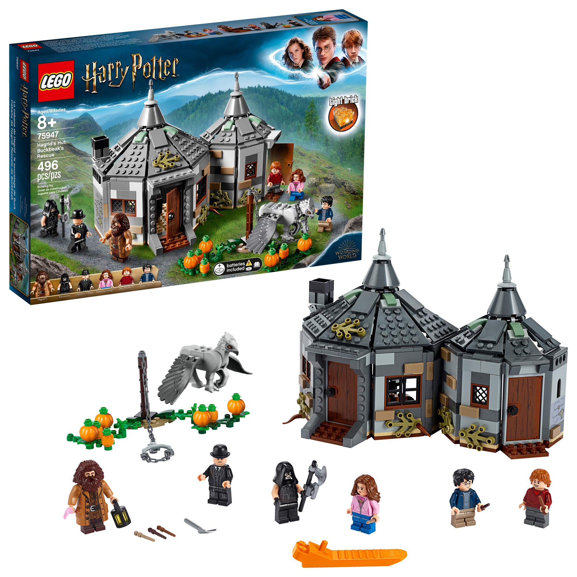 LEGO Harry Potter and The Prisoner of Azkaban Hagrid's Hut: Buckbeak's Rescue 75947 Building kit, New 2019 (496 Pieces) by LEGO