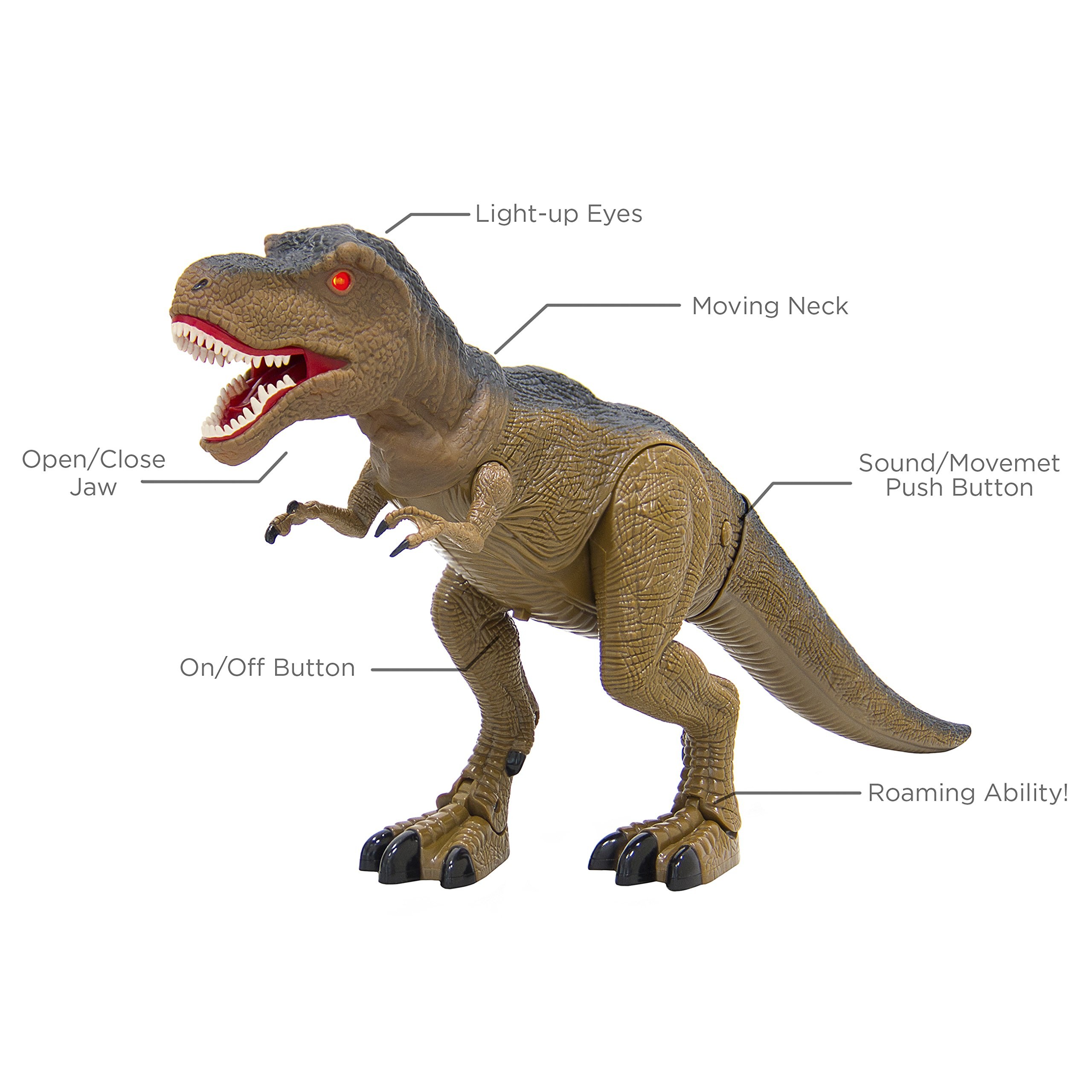 Best Choice Products 19in Kids Walking Remote Control Tyrannosaurus Rex Dinosaur RC Toy w/ Light-Up Eyes, Sounds by Best Choice Products (Image #5)