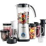 VonShef 4 in 1 Multifunctional Silver 1 Litre Smoothie Maker, 1.5 Litre Blender, Juicer, Mugs & Grinder