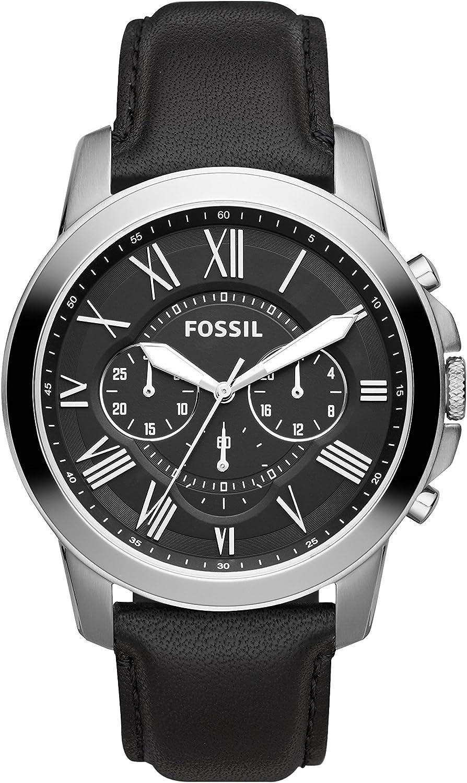 Fossil Homme Chronographe Quartz Montre Noir/Argent