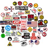 Hard Hat Stickers [Big 50 PCS] - Funny Sticker for Tool Box Helmet Welding Construction Union Military Ironworker…