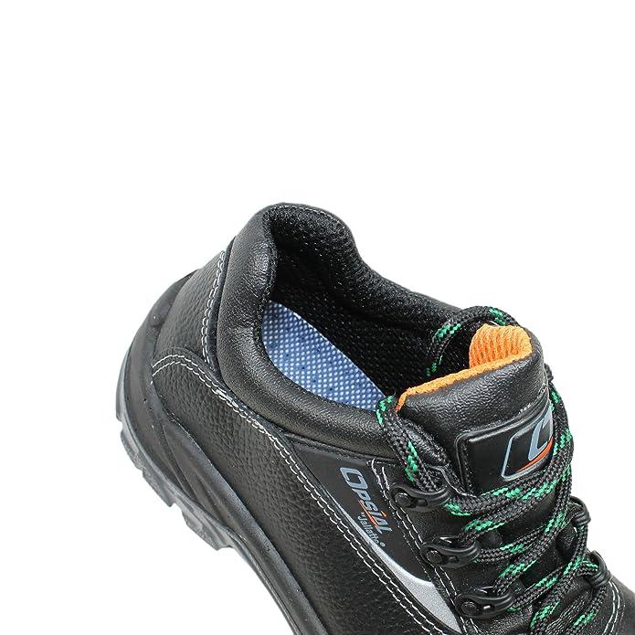 Opsial - Calzado de protección de Piel para hombre Negro negro: Amazon.es: Zapatos y complementos
