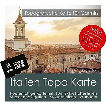 Italia Garmin tarjeta Topo 4 GB MicroSD. Mapa topográfico ...
