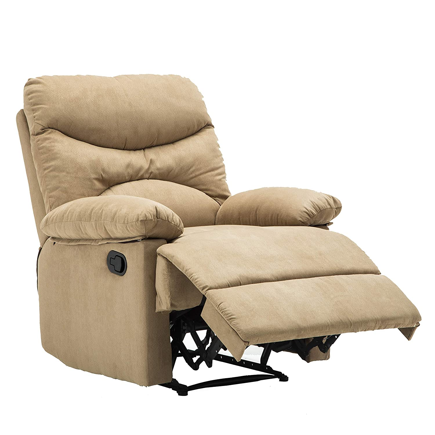 Amazon com windaze recliner chair massage heat lounge manual sofa chair microfiber ergonomic for living room beige kitchen dining