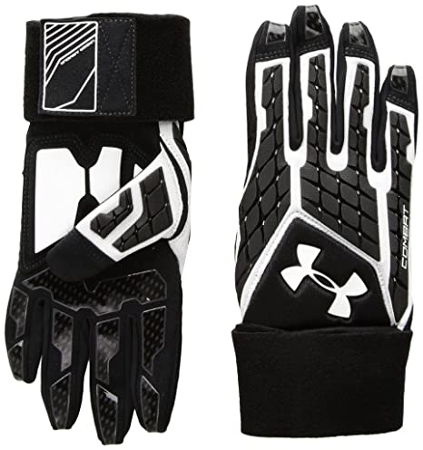 Amazon.com   Under Armor Boys  Combat V Football Gloves   Sports ... 220c9223599b