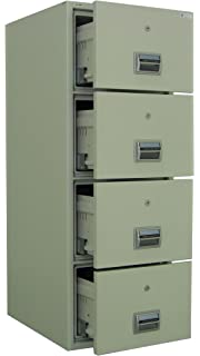 amffc400 fireproof and burglary resistant 4 drawer file cabinet