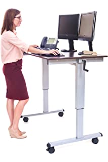 Amazoncom LUXOR Standup40B Stand Up Desk Black Industrial