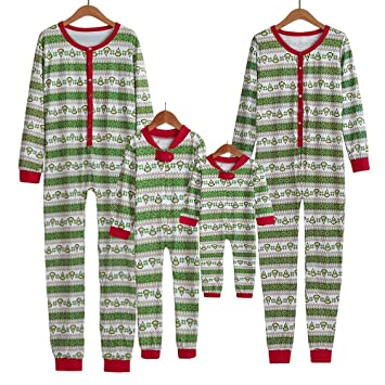 Image Unavailable. Image not available for. Color  KFSO Family Matching Christmas  Green Striped Onesie PJs ... fd3c6a5c7e15