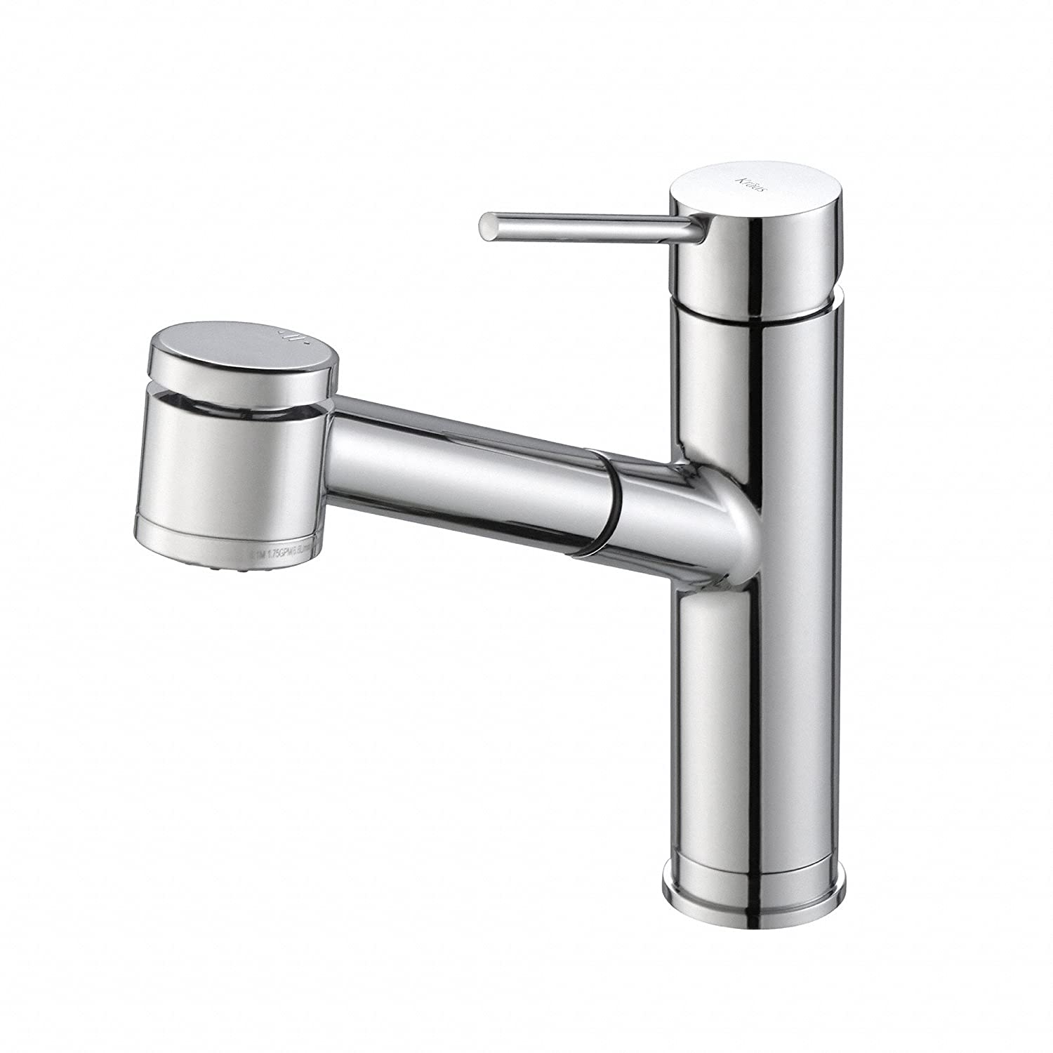 KRAUS Oletto Single Handle Pull Out Kitchen Faucet in Chrome Finish ...