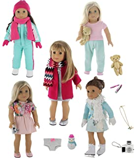 6f8effd128ee Amazon.com  Weardoll 18inch Doll Clothes and Accessories - 33 Items ...