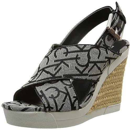 fa379b96c80 Calvin Klein Jeans Elaine - Sandalias Sandalias Mujer  Amazon.es  Zapatos y  complementos