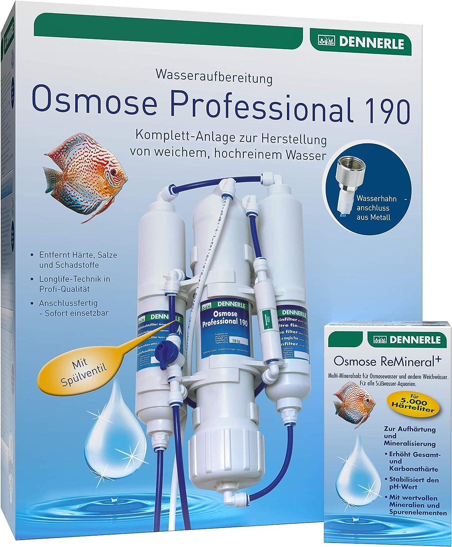 Dennerle Osmose Professional 190 + Osmose ReMineral+ Set: Amazon.de: Haustier - Osmoseanlage Aquarium