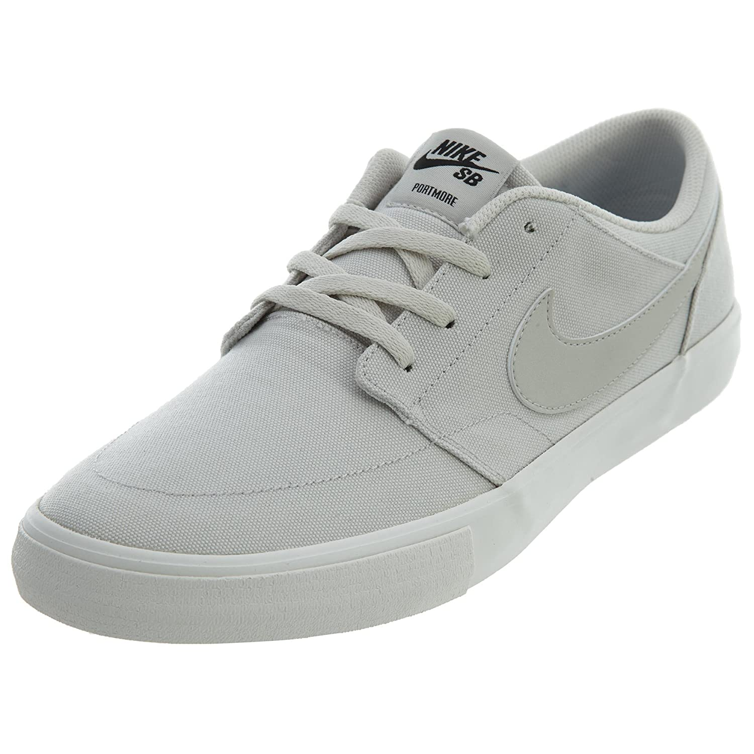 NIKE Men's Sb Portmore Ii Solar Ankle-High Canvas Skateboarding Shoe B071V922KW 8 M US|Light Bone/Light Bone/Black