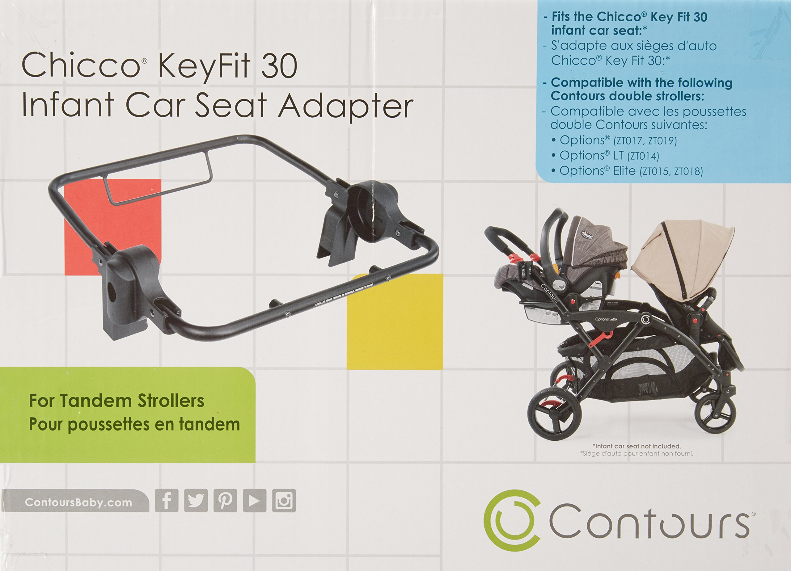Contours Infant Car Seat Adapter -Compatible with Chicco KeyFit 30 for Contours Options, Options Elite, Contours LT Tandem Strollers by Contours (Image #2)