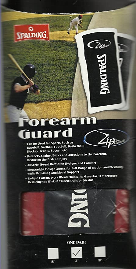 Amazon.com: Spalding deportes protector antebrazo rojo w ...
