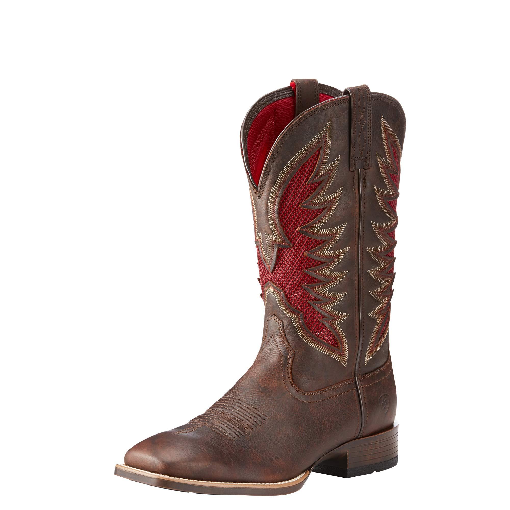 Ariat Men's Venttek Ultra Western Boot, Barley Brown, 8 D US by ARIAT