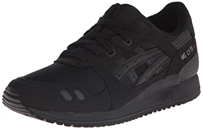 ASICS Gel Lyte III GS Running Shoe (Big Kid), Black/Black,