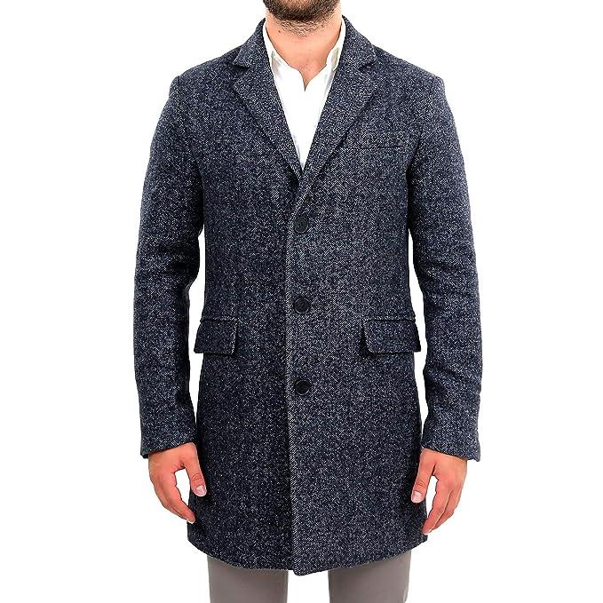 a4c051ceaf733 Cappotto Uomo Lungo Grigio Invernale Lana Elegante Slim Fit Sartoriale  Jaspé Cappottino Inverno Soprabito Capispalla Giaccone