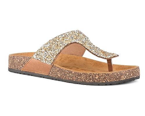 8a96e87b4deb87 Twisted Women s Payton Glitter Cork Sole Sandal - PAYTON31BRONZE