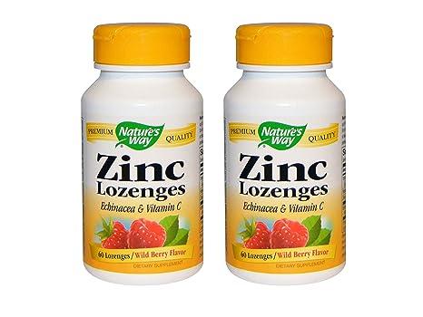 Amazon Com Set Of 2 Nature S Way Zinc Natural Berry 60 Lozenges
