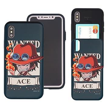 65302597ee iPhone X ケース ONE PIECE ワンピース カード スロット ダブル バンパー ケース [ スマホケース おしゃれ ] アイフォン