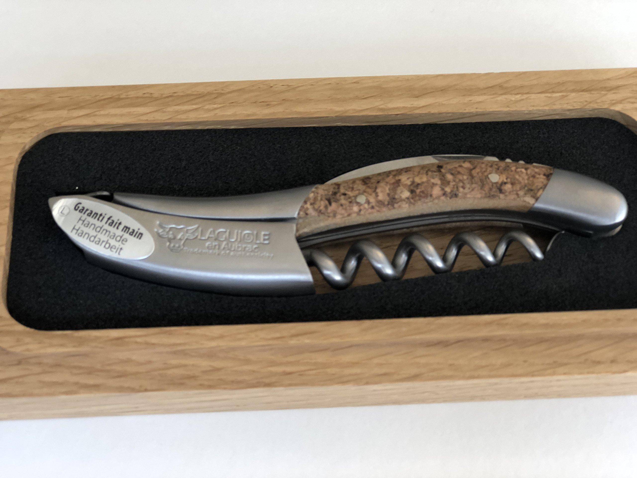 Laguiole an Aubrac Sommelier Waiter's Corkscrew, Cork Finish Handle