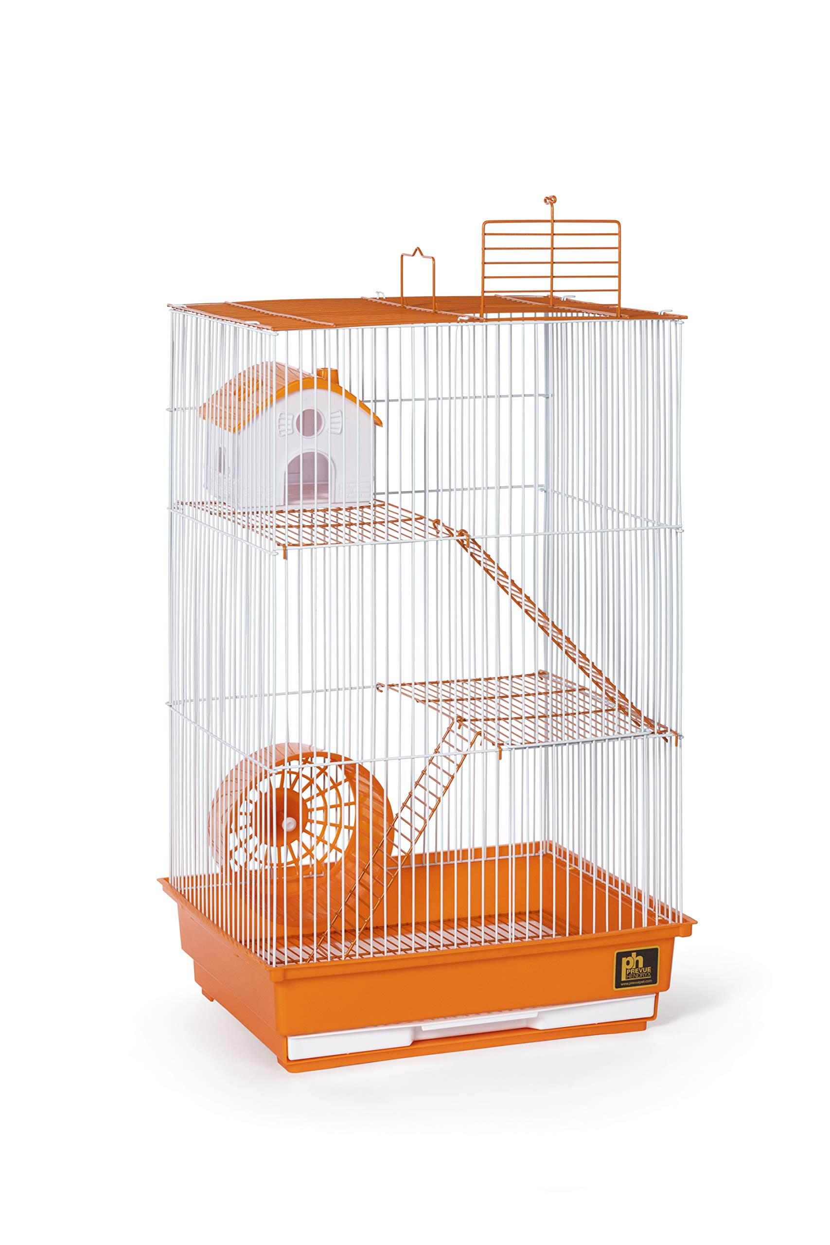 Prevue Pet Products Three-Story Hamster & Gerbil Cage Orange & White SP2030O by Prevue Pet Products (Image #1)
