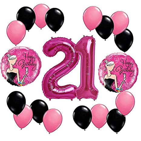 Amazon Happy Fabulous 21st Birthday Party Balloons Decorations
