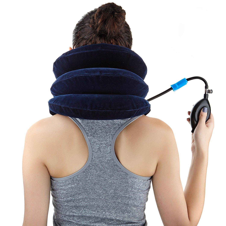 Easyneck Trazionatore Cervicale Gonfiabile Cuscino di Trazione per Sollievo Immediato di Dolore Cronico al Collo e Tensione Fornisce Supporto per la