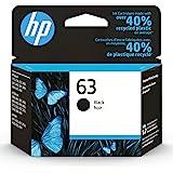 HP 63   Ink Cartridge   Black   Works with HP DeskJet 1112, 2100 Series, 3600 Series, HP ENVY 4500 Series, HP OfficeJet 3800