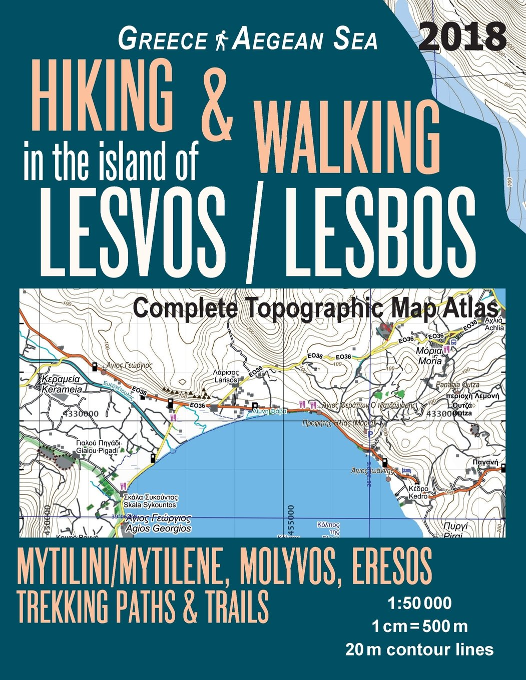 Hiking Walking In The Island Of Lesvos Lesbos Complete Topographic